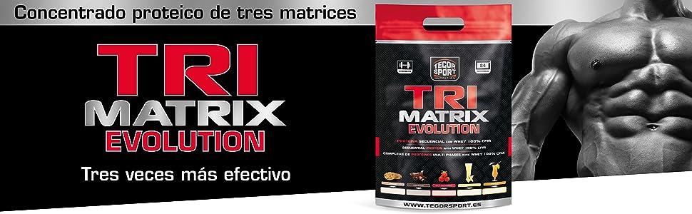 Tegor Sport Tri Matrix Evolution, Batido de Proteínas - 2500 gr