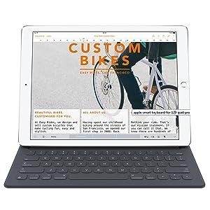 "Apple Ipad Pro Smart connector Keyboard mac 9.7"" 9.7 9.7-inch foldable bluetooth microfibre"