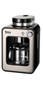 TM Electron TMPCF020S Mini cafetera de Goteo con Molinillo Grano, 4 Tazas, 600W y Filtro Lavable Compatible con café ...