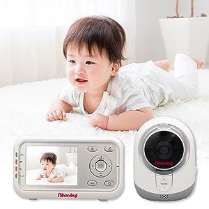 ビデオモニター ベビーモニター スマートビデオモニター デジタルカラー 違う部屋 育児 様子 モニター 家事 カメラ