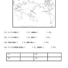 地理問題 世界の人名編