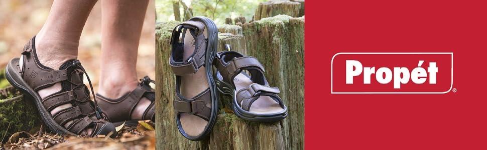 propet sandals; mens sandals; outdoor sandals; water resistant sandals; water sandals