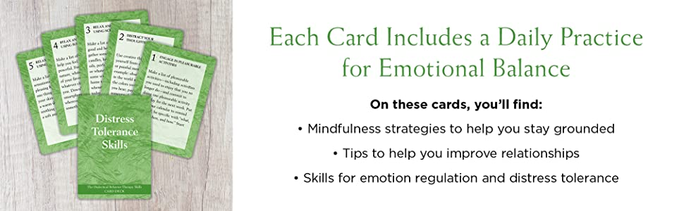 These cards offer practices for: mindfulness, improving relationships, emotion regulation, and more!