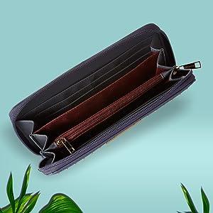 Caprese JENA Women's Wallet (Blue)