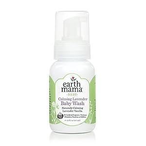 Earth Mama Calming Lavender Baby Wash Gentle Castile Soap For Sensitive Skin