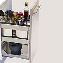 pull out cupboard storage