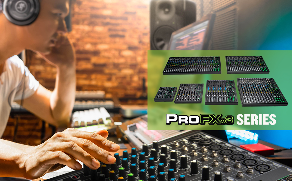 Mackie, ProFXv3, Mixer, Audio, USB, recording, studio, streaming