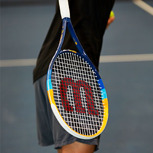 racket; tennis racket; tennis; racquet; tennis racquet; prime; adult racket