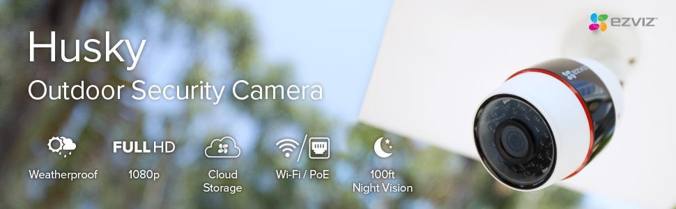 outdoor security camera, outdoor wifi security camera, ezviz, husky