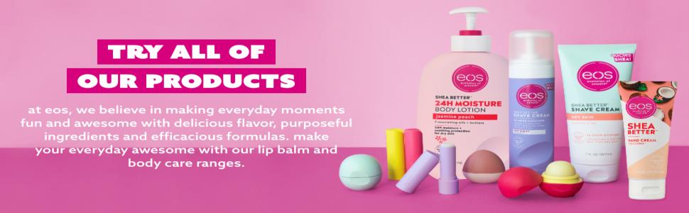 eos, lip balm, lip care, skin care, organic lip balm, natural lip balm