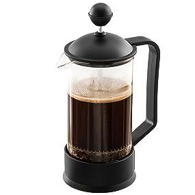 LEVIVO Cafetera de émbolo, 0,35 L, Negro, 7 cm: Amazon.es: Hogar