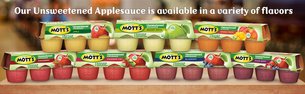 unsweetened, natural, granny smith, strawberry sauce, blueberry flavor, strawberry kiwi, mango,