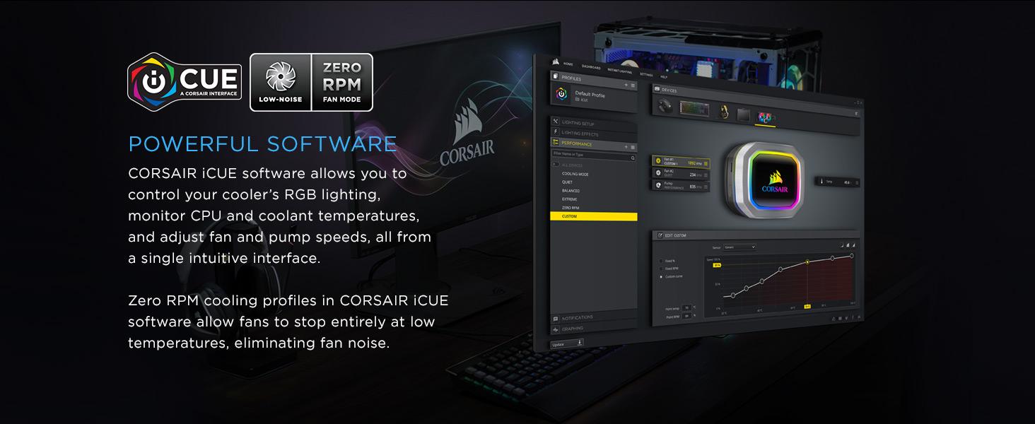 CW-9060038-WW Hydro Series H115i RGB PLATINUM 280mm Liquid CPU Cooler