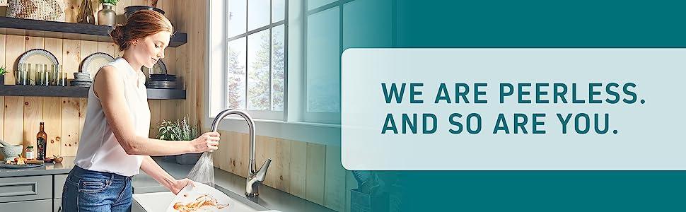 peerless, kitchen faucet, kitchen sink faucet, pull-down faucet, faucet with pull-down sprayer