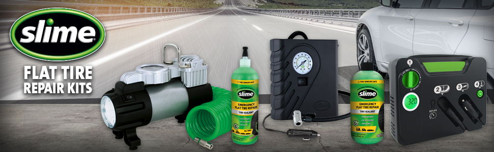 Flat Tire repair, tire inflator, fix a flat