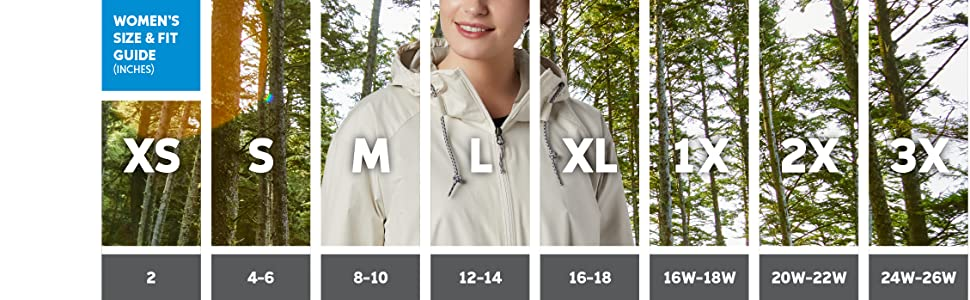Women's jacket sizing