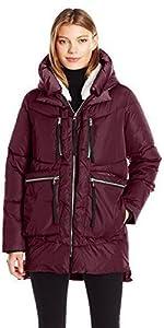 e91b10890 Amazon.com: Madden Girl Women's Long Chevron Puffer Jacket: Clothing