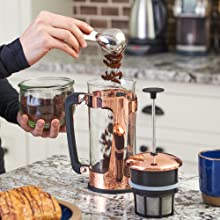How To Espro Press P5 French Press Add Coffee