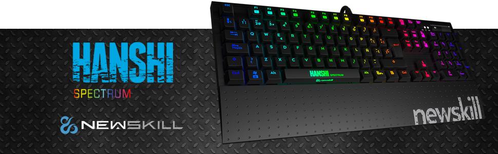 Newskill Hanshi Spectrum - Teclado mecánico gaming RGB ...