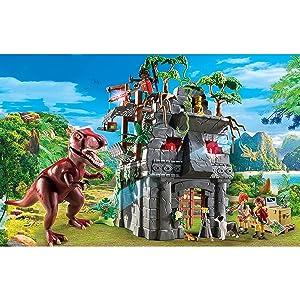 hidden temple with t-rex