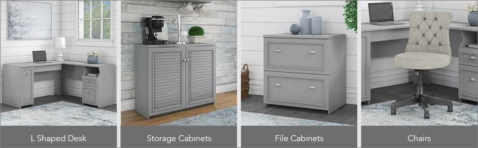 bush furniture,fairview,cape cod gray,gray,country cottage,bush,bush industries