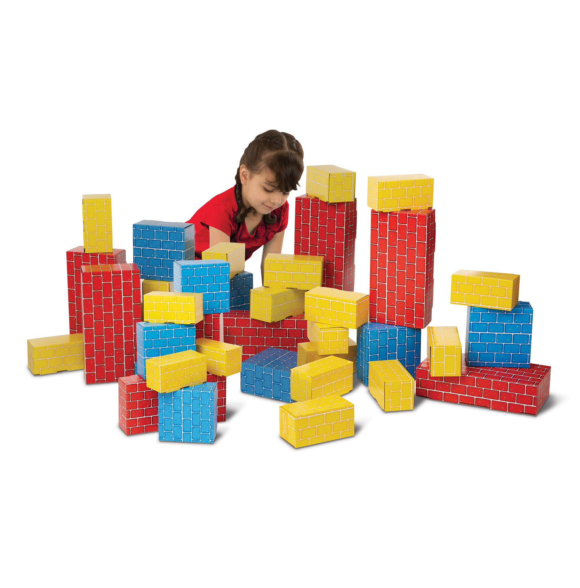 Melissa & Doug Jumbo Extra Thick Cardboard Building Blocks 40