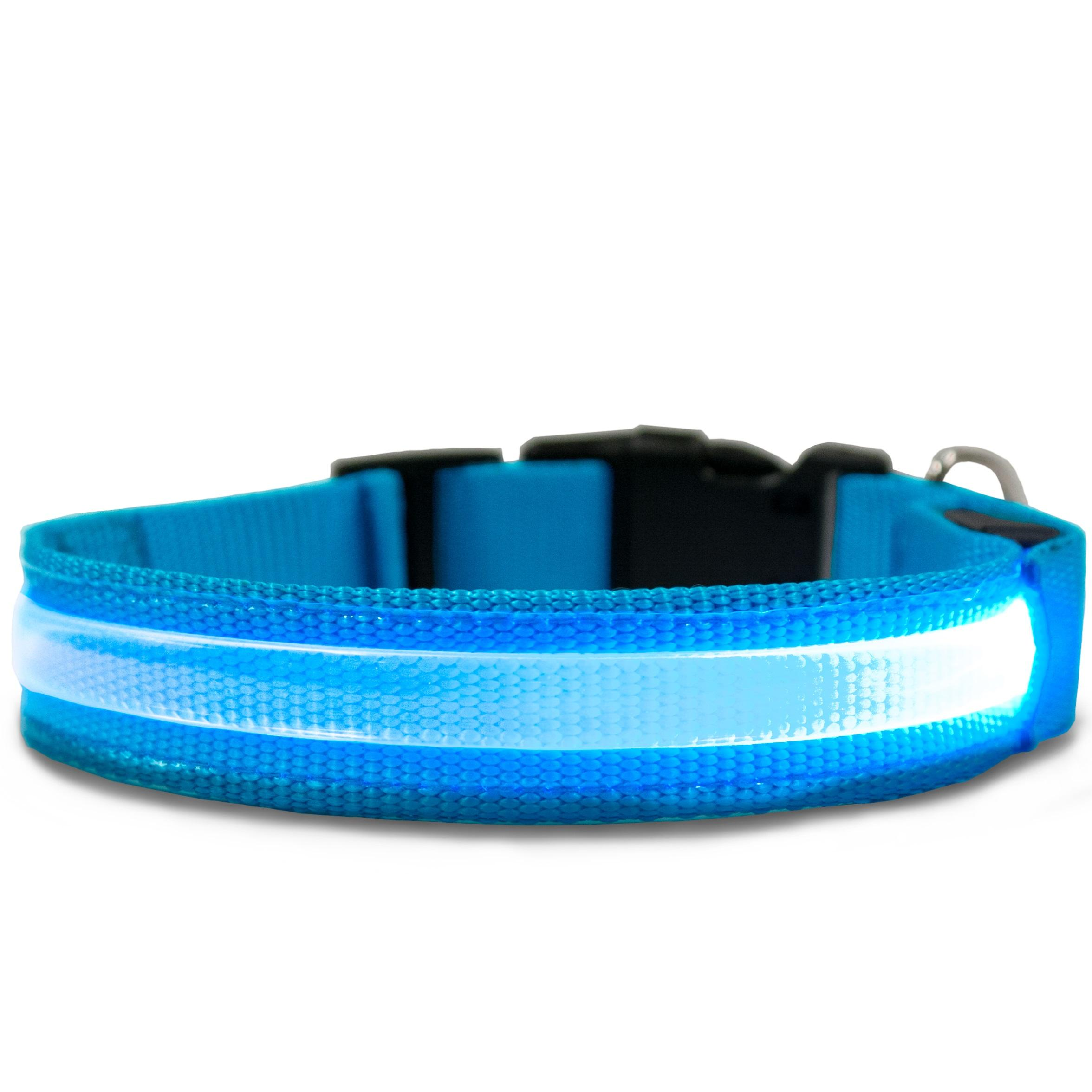 light up rechargeable personalized amazon led dog reg collar