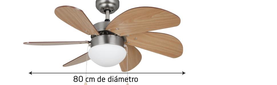 Orbegozo CP15075N Ventilador de Techo, Madera: Amazon.es: Hogar
