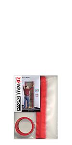 Zipwall ZipDoor Standard Door Kit for Dust Containment, ZDS, Single