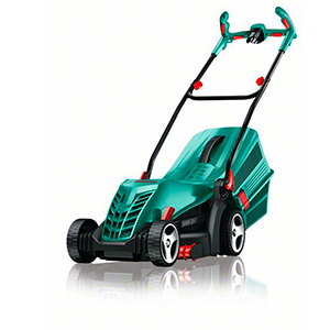 Bosch ARM 37 - Cortacésped eléctrico (1400W, cesta colectora de 40 l, ancho del corte: 37 cm, altura de corte: 20-70 mm, caja de cartón)