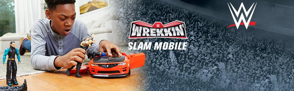 Wrekkin/' Slam Mobile With Braun Strowman 6-Inch Action Figure Toys For Boys