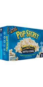 sweet popcorn, pop secret, kettle corn, caramel corn