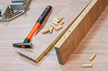 woodwork carpentry straight flute dowel pin connection woodjoining