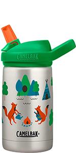 camelbak, eddy kids water bottle, stainless steel kids water bottle, kids bottle, sippy cup