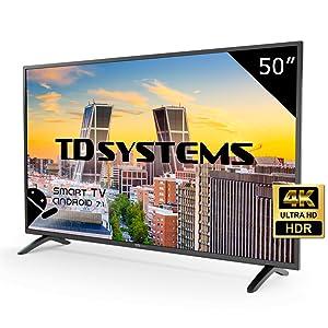 TD Systems K50DLM8US - Televisor Led 50 Pulgadas Ultra HD 4K Smart ...