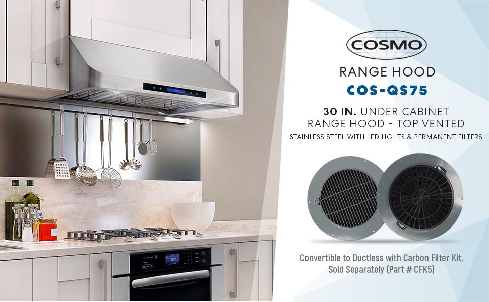 Cosmo Hrh3001u Pro Style Under Cabinet Range Hood Amazon Ca Home Kitchen