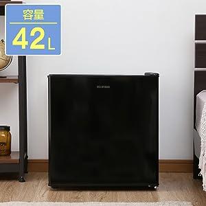 アイリスオーヤマ 冷蔵庫 42L 小型 静音 1ドア NRSD-4A-B