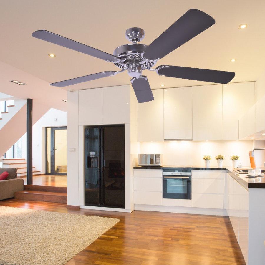deckenventilator ohne beleuchtung potkuri geh use stahl wendefl gel wei oder wei mit. Black Bedroom Furniture Sets. Home Design Ideas