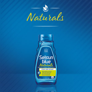 Selsun Blue Shampoo helps get rid of flakes and itchy scalp