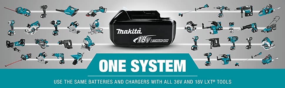 one system multiple uses same batteries charger 18v 36v cordless LXT tools