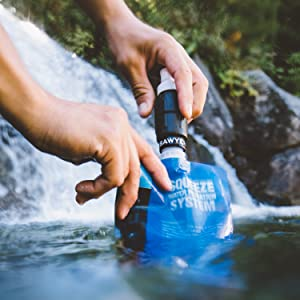 sawyer micro squeeze mini water filter water filtration outdoors hiking camping backcountry