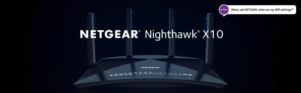 NETGEAR Nighthawk X10 Smart WiFi Router (R9000) - AD7200 Wireless Speed (up  to 7200 Mbps) for 60Ghz WiFi Devices | Up to 2500 sq ft Coverage | 6 x 1G