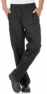 Chef Works Men's Cool Vent Baggy Chef Pants