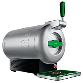 Krups The Sub Heineken VB650E10 - Tirador de cerveza, 2 l frescos de la cerveza 15 días, hasta 2º, eficiencia energética A+, silencioso, indicador ...