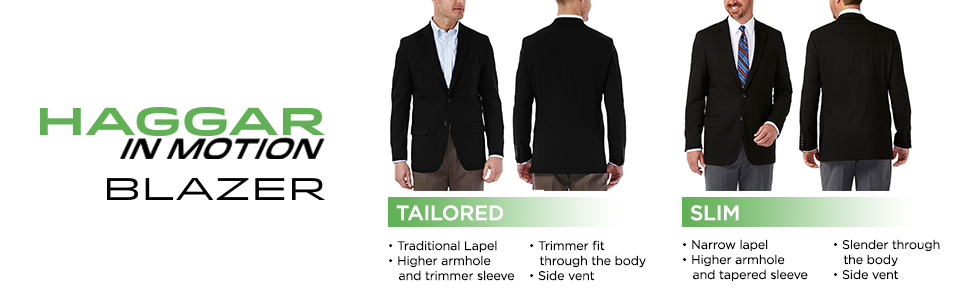 Haggar Clothing Mens Tailored Fit In Motion Blazer