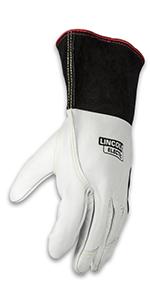 Premium TIG Welding Gloves; Lincoln tig gloves; grain leather welding gloves;