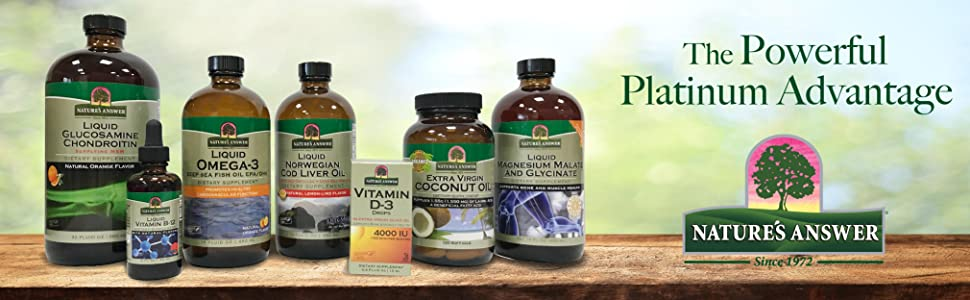Nature's Answer, Liquid vitamin, concentrated, platinum, minerals