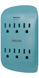 6 outlet surge protector usb wall tap outlets extender