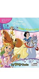 My Busy Books PawPatrol Phidal Board Books Princess Cinderella Belle Ariele Jasmin Tiana