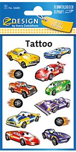 Tattoo kinderen auto